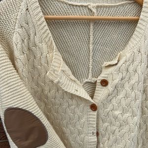 vintage cardigan with elbow patches